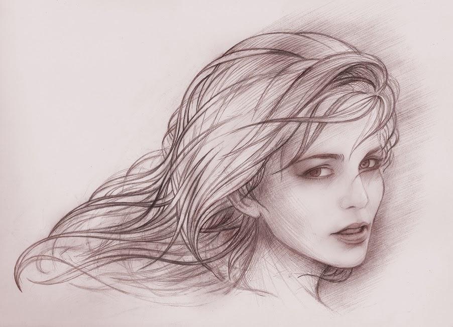 hand drawing gambar  gambar  wanita  sketsa  xdnadea